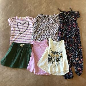 Girls Clothing Lot 6 Pieces Crewcuts Oneill 6X